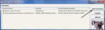 mengetahui serial number suatu software
