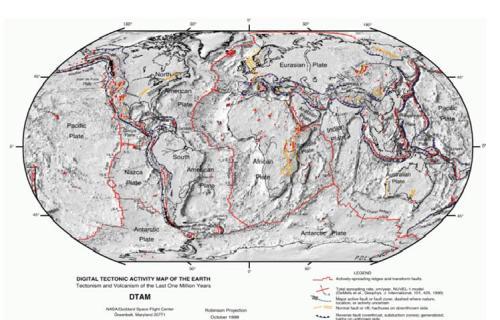 Peta lempeng-lempeng tektonik
