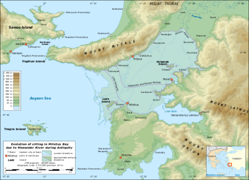 Peta Lade, Miletos, dan semenanjung Mykale