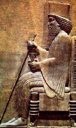 Relief Darius I di istana Persipolis
